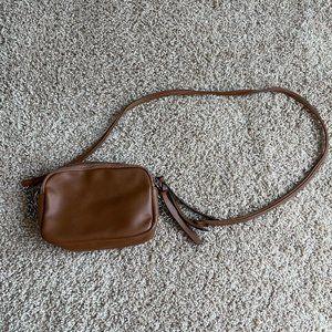 target wild fable brown 2 zipper crossbody bag
